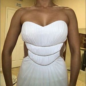 White bridal Gown or Prom Dress